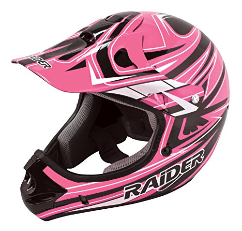 Raider Youth Kids Rush MX Motocross ATV Off-Road Helmet Girls' Helmet (Pink, Small)