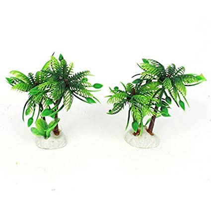 Amazon.com : eDealMax 2pcs acuario Artificial plástico Planta de agua Hierba Verde Decoración : Pet Supplies