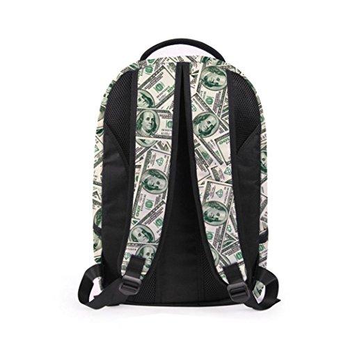 F Shoulder Bookbag Rucksack Backpack Bag Men's Satchel 3D Womens School Travel Galaxy wOn47qCOS