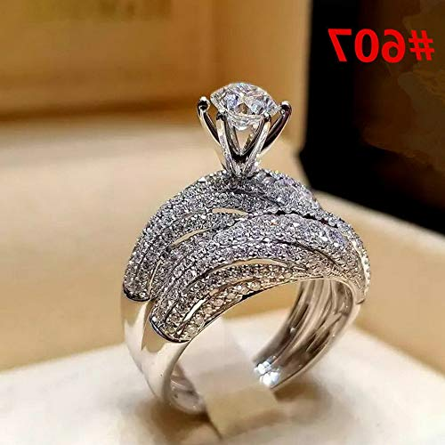 - Endicot Women Engagement Wedding Ring Crystal Rhinestone White Gold Plated Rings Jewelry | Model RNG - 5041 | 6