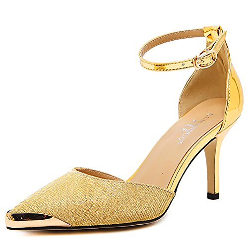 Meeshine Pointed Sandals Glitter Plaform product image