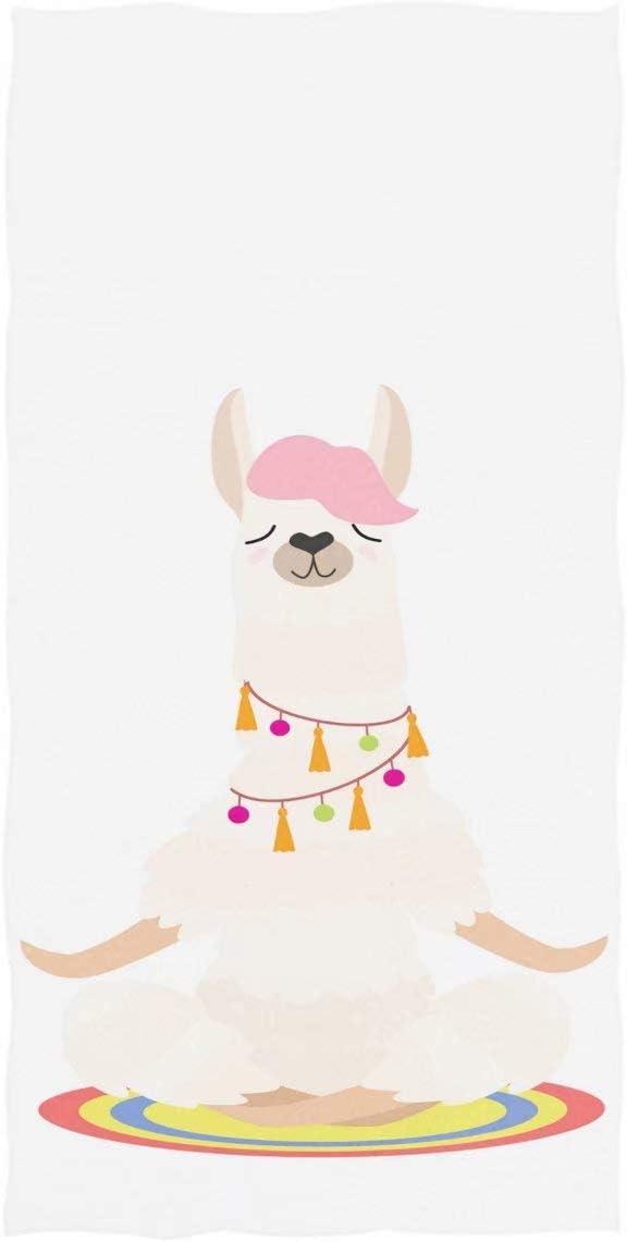 Wamika Cute Yoga Llama Hand Towels Meditates Alpaca Face Towel Ultra Soft Highly Absorbent Guest Towel Portable Kitchen Tea Towels Washcloths Bathroom Decor Housewarming Gifts 16