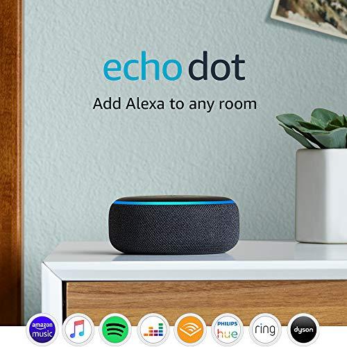 Echo Dot (3rd Gen) – Smart speaker with Alexa – Charcoal Fabric