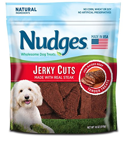 Nudges Jerky Cuts Dog Treats, Steak, 18 Ounce