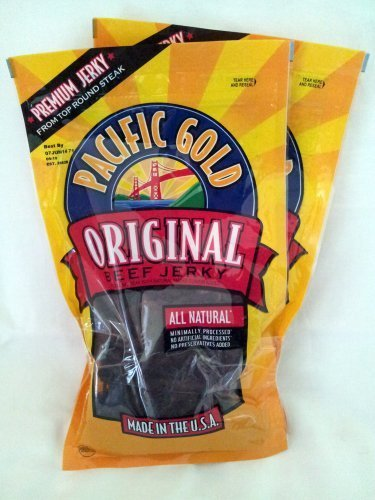 Beef 5 Ounce Bag (Pacific Gold Original Beef Jerky, 2-8oz bags by Pacific Gold)