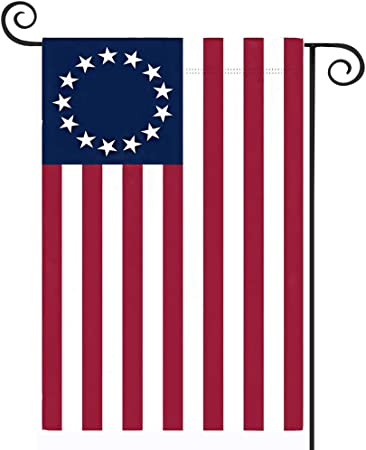 Besty Ross American Garden Flag 12 x 18- Ross Flags 13 Stars Patriotic Double Sided USA Small for Yard Decor