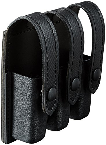 Safariland Duty Gear Black Snap Glock 17, 22, 34, 35 Flat Top Slimline Triple Magazine Pouch (STX Black)