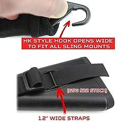 2 Point Rifle Sling, Fits All Guns, Fast Adjuster, Shoulder Pad, Dynamic Straps - BDS 4X Hunting Gun Sling 34\