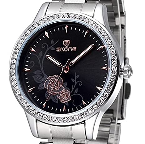 Amazon.com: Reloj De Dama Para Mujer Quartz Watch Fashion Casual Luxury Relogio Feminino RE0041: Watches