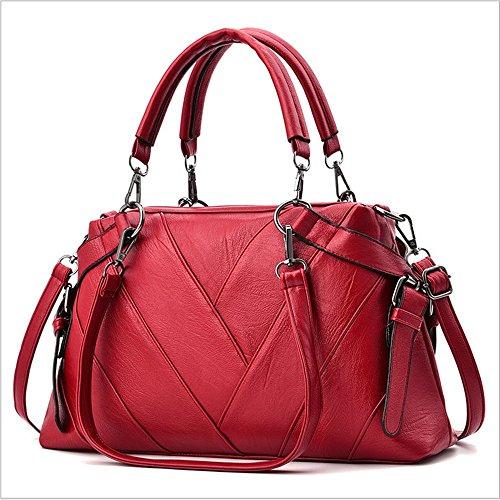 Di Tendenza Borsa Rrock Capacità Cinque Colori Messaggero Grande Rosso Tracolla Donna rBqCwnYqX
