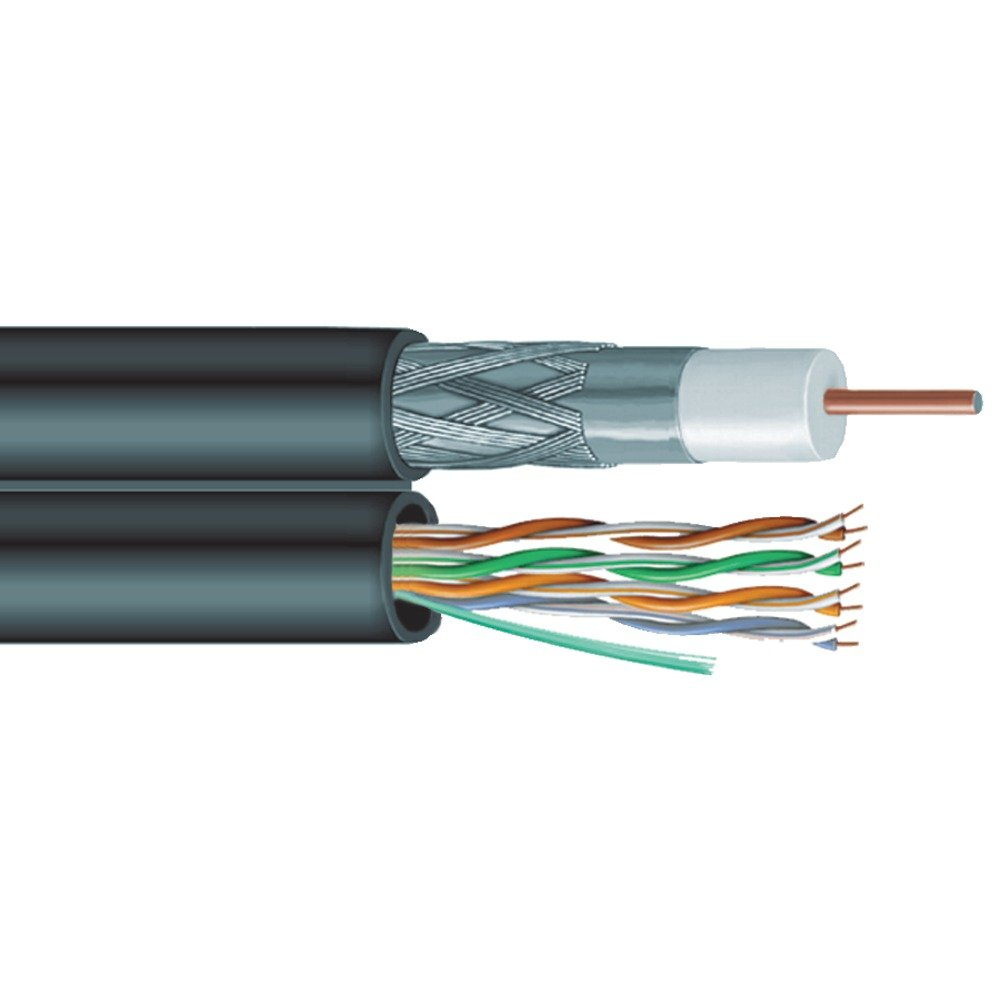 Amazon.com: Vextra V6C5E Siamese Rg6 Coaxial/Cat-5E Cable: Electronics