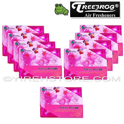 9 Packs TreeFrog FRESH BOX MINI (aka Xtreme Fresh Mini) Sakura Blossom Scent Premium JDM Air Freshener