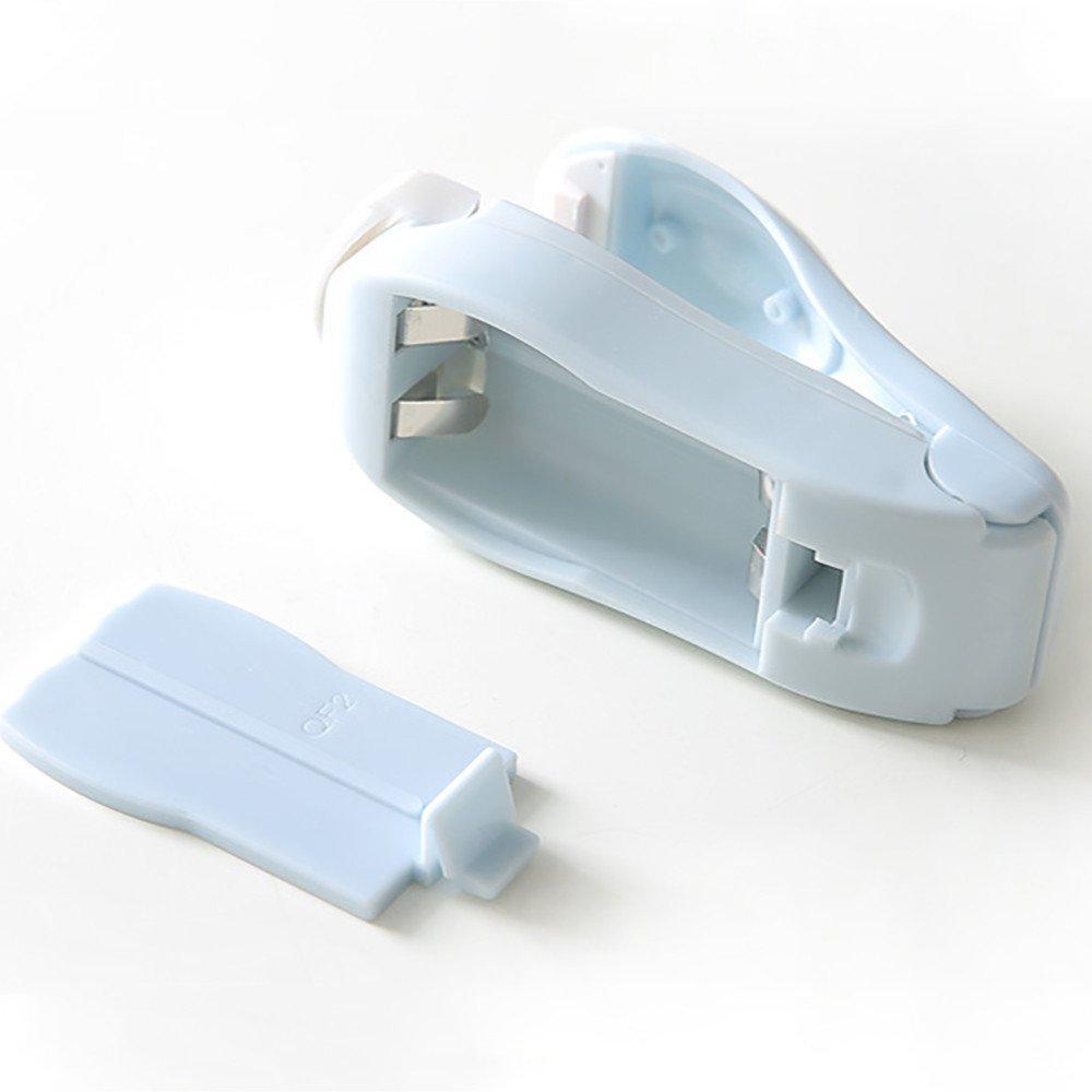Mini Handheld Heat Sealing Machine Portable Package Resealer Impulse Sealer Seal Plastic Bag for Snack Bags Food Storage (Blue) by Codiak-Organizers (Image #5)