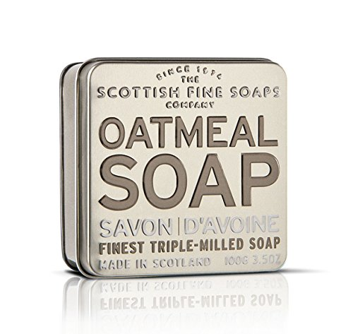 The Scottish Fine Soaps Company Exfoliating Oatmeal Soap in a Tin (Soap Tin)