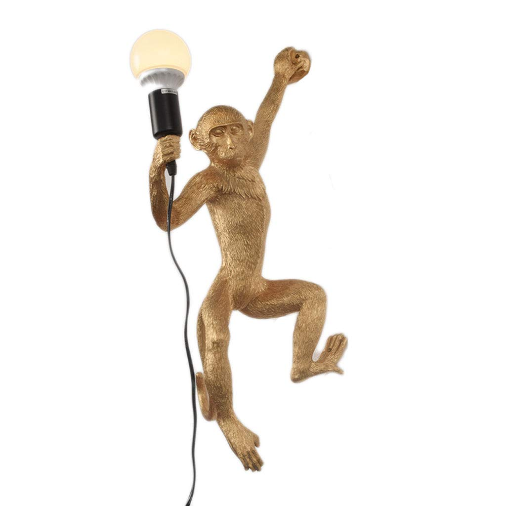Affe Licht Kronleuchter Wohnzimmer Esszimmer Korridor Wandleuchte Hanfseil Lampe Persönlichkeit Kreative Tier Kronleuchter (Farbe   Weiß)