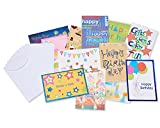 American Greetings Assorted Kids' Birthday Cards with Inside Messages White Envelopes, 12 Count