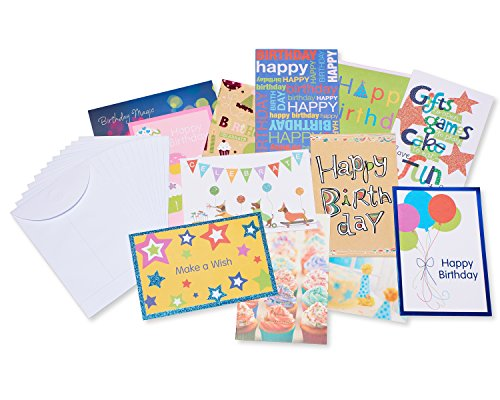 Inside Card - American Greetings Assorted Kids' Birthday Cards with Inside Messages White Envelopes, 12 Count