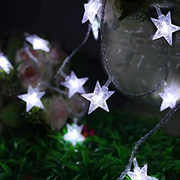 pretty nice 92d57 56e37 Twinkle Star 100 LED 49 FT Star String Lights, Plug in Fairy String Lights  Waterproof, Extendable for Indoor, Outdoor, Wedding Party, Christmas Tree,  ...