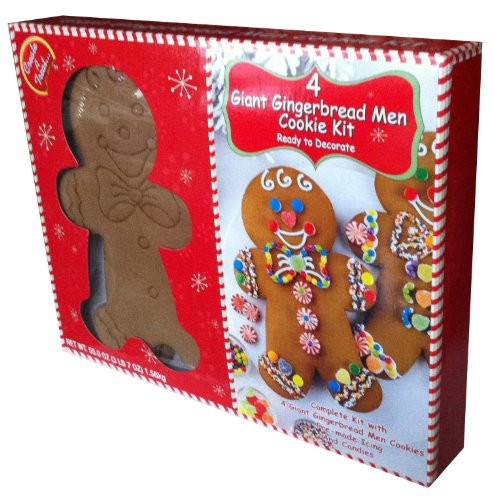 Create A Treat 4 Giant Gingerbread Men Cookie Kit Ready To Decorate