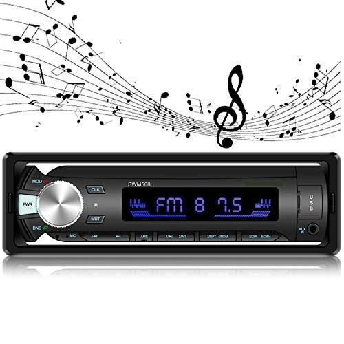 Bluetooth Car Stereo, ODLICNO Car Radio 4 * 50 W FM Radio Hands Free Car MP3 Digital Media Player with Remote Control 7…
