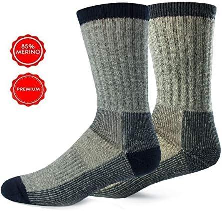 Alpin Loacker Wandersocken aus Merinowolle | Trekking Socken Damen und Herren | Keine Blasen + weniger Schweiß durch Merino | Größen + Farbauswahl
