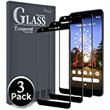 Ferilinso Screen Protector for Google Pixel 3a,[3 Pack] [Full Glue][Full Cover] Tempered Glass Case Friendly Protective Film with Lifetime Replacement Warranty (Black)