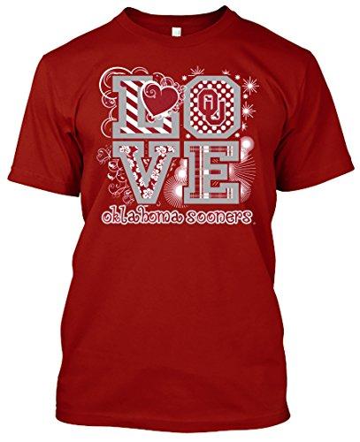 NCAA Love T-shirts - Alabama, Arkansas, Auburn, Clemson, Florida, FSU, Georgia, Kentucky, LSU, Mississippi St., Ole Miss, South Carolina, Tennessee, Texas A&M (Oklahoma Sooners, Large) (Oklahoma T-shirt Ladies)