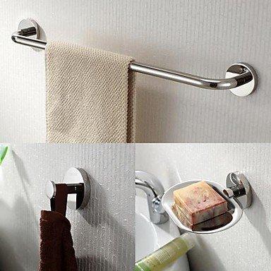 Grifo acero inoxidable 3 piezas Juego de accesorios de baño ...