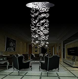 Chrome ceiling mount chandelier with hand blown bubble glasses siljoy modern bubble glass chandelier lighting for stairs living room foyer entryway d20 40 aloadofball Choice Image