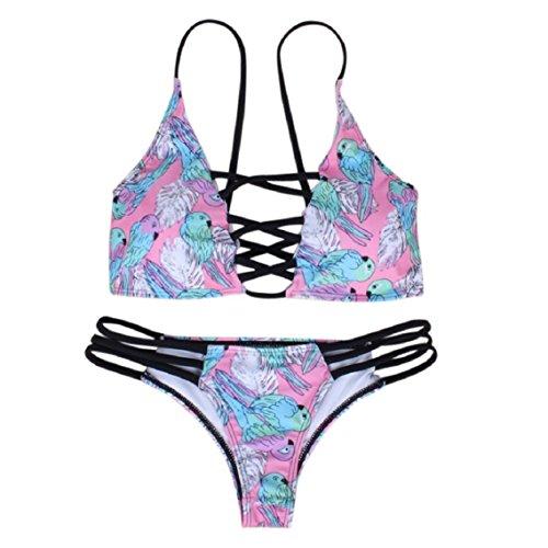 BZline mujeres traje de baño bikini Push Up sujetador venda acolchada en traje de baño traje de baño Colorc
