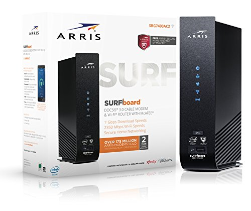 Arris SBG7400AC2 SURFBoard Cable Modem and Wi-Fi Router