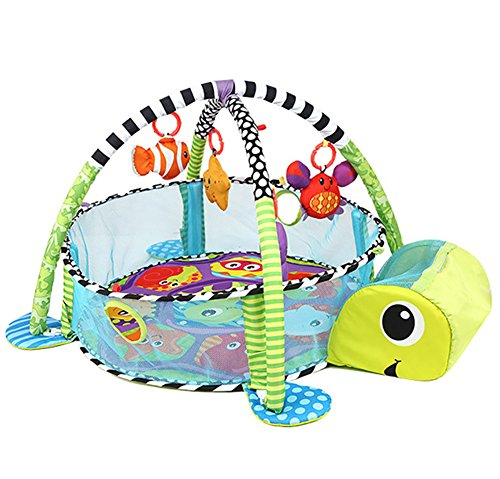 Orient Home Design Baby Cartoon Toys Grow with Me Activity Gym Play Mat and Ball Pit Infant Floor Blanket Educational Gym Mats Kids Rug Activity Climbing Carpet Tuetle ()
