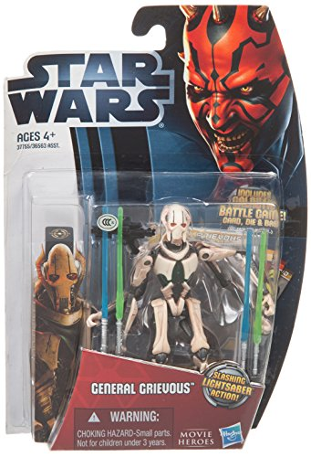 [Star Wars Movie Heroes 2012 Action Figure MH07 General Grievous 3.75 Inch] (Star Wars General Grievous)