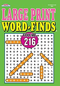 Large Print Word-Finds Puzzle Book-Word Search