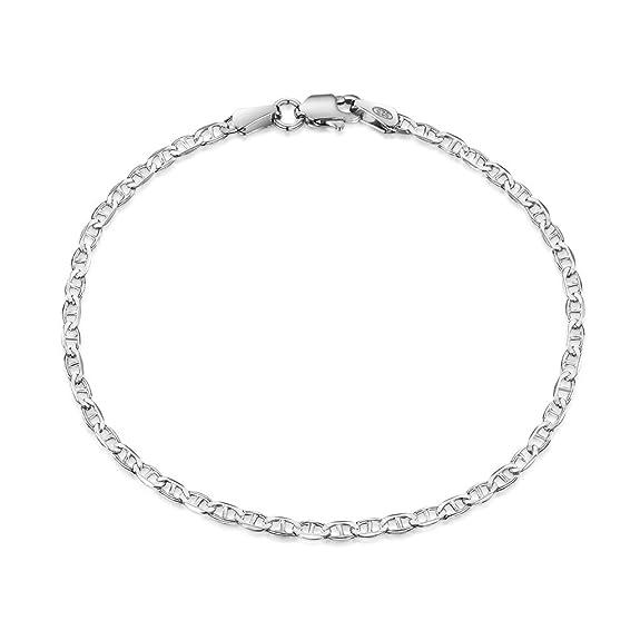 62fd92fd95 Amazon | Amberta シルバー925 マリタイム チェーン ネックレス 幅1.7mm 長さ 40~60 cm (50cm) | チェーン  通販
