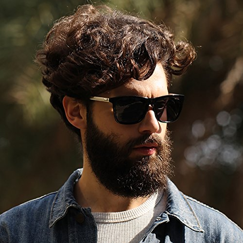 SUNMEET sol B de de Gafas Clásico Hombre Retro Plateado sol Hombre Protection para UV400 Polarizadas Plateado S1001 Gafas ArAfzwxn