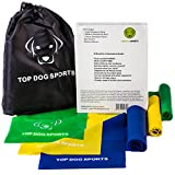 Premium Exercise Resistance Band Set- Highest Quality, Fitness, Muscle Building, Body Toning, Work Out, P90x, Thera-bands, Pilates, Yoga, Physical Therapy-Men & Women-Arms,Legs,Core,Abs,Chest,Training- Light, Medium, & Heavy Bands + Door Anchor & Bag Included