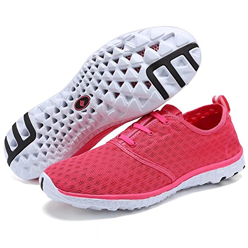 Athletic Womens For Shoes Mesh Aqua Drying Water Men Fantiny Quick Slip Sport Casual on Sneakers CIOR Rose 5qBv0