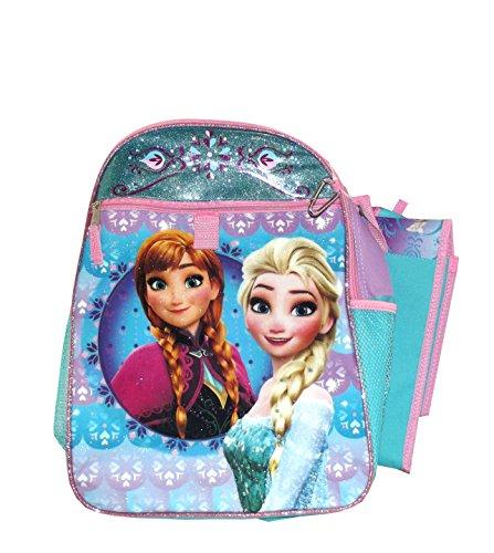 Disney Frozen Anna and Elsa Backpack School Set, 5 pieces