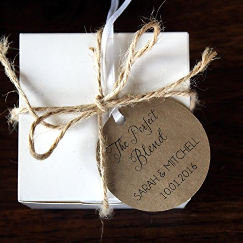 The Perfect Blend Coffee Wedding Favor Tags