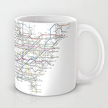 Amazon.com: Society6 - U.s. Numbered Highways As A Subway ...