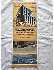 """""""BEN-HUR"""" 1969 ORIGINAL MOVIE POSTER FIRST ISSUE 36X14 CHARLTON HESTON"""