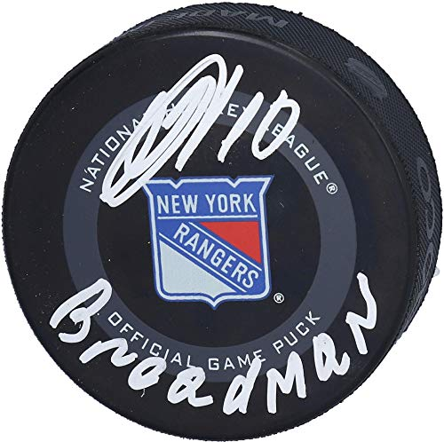 """Artemi Panarin New York Rangers Autographed 2019 Model Official Game Puck with""""Breadman"""" Inscription - Fanatics Authentic Certified from Sports Memorabilia"""