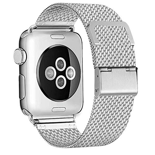 Steel Replacement Band - BMBEAR Compatible with Watch Band 38mm 40mm Stainless Steel Replacement Band for Watch Series 4 Series 3 Series 2 Series 1 Silver