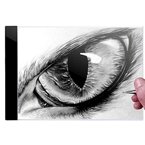 A4 F LED Copy Board Tracing Board Artist Art Display Board Light Drawing Board (US Stock) by Kindsells