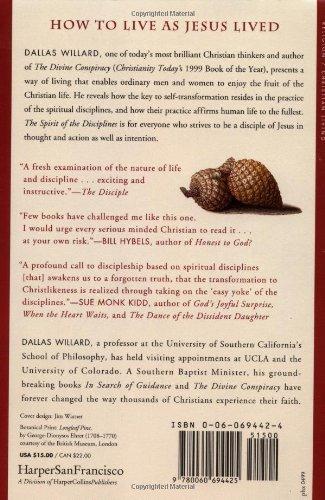 the spirit of disciplines by dallas willard essay Donald whitney- spiritual disciplines spiritual disciplines for the christian life (1998) and dallas willard's the spirit of the disciplines (1991).