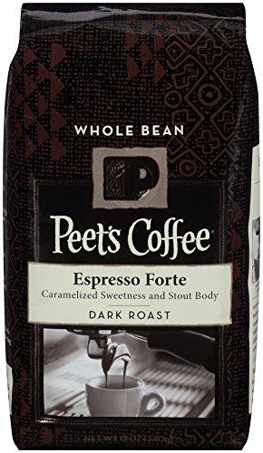 Peet's Coffee Whole Coffee Bean, Espresso Forte, Dark Roast, 12 Ounce bag