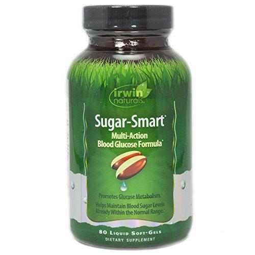 Irwin Naturals Sucre Smart Supplément Alimentaire, 80 Comte