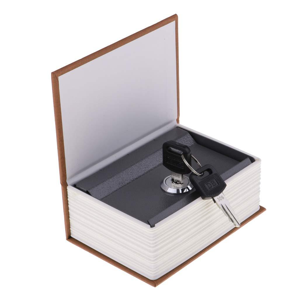 Negro sharprepublic Caja Fuerte con Forma de Libro de Verdad Candado Acero Inoxidable Port/átil Seguridad Joyas