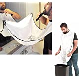 MATENG Beard Catcher Apron for Shaving and Hair Clippings Catcher, Keep the sink clean Easy Disposal, The Perfect Gift for the Man